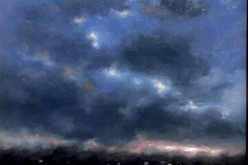 """Brewing Sky"" Oil on Canvas 12 x 12 by Robert Armetta"
