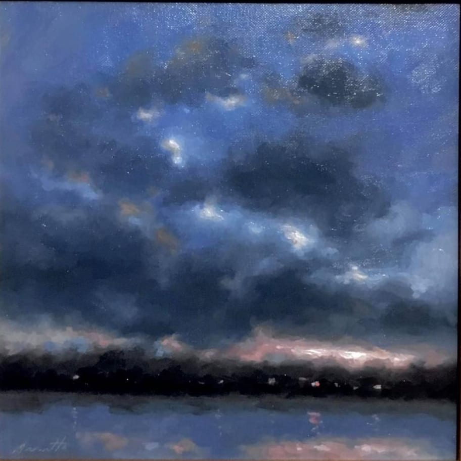 """Brewing Sky"" Oil on Canvas 12 x 12 by Robert Armetta"