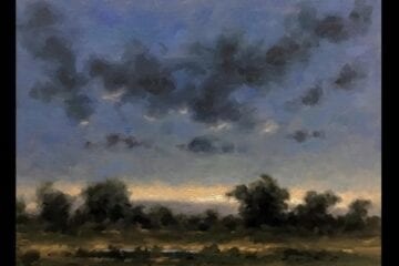 """Dancing Clouds"" Oil on Canvas 11 x 14 by Robert Armetta"