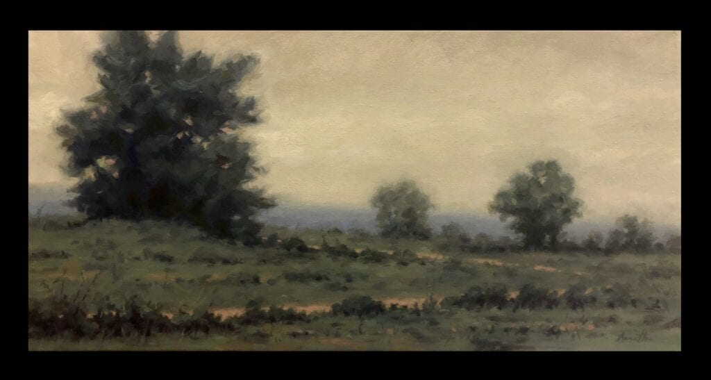 """Distant Hills"" Oil on Canvas 10 x 20 by Robert Armetta"