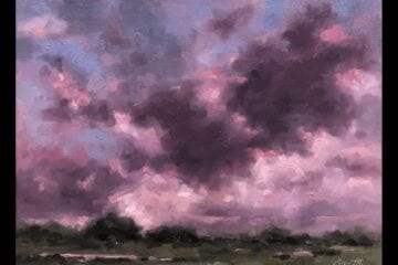 """Early July Sky"" Oil on Canvas 11 x 14 by Robert Armetta"