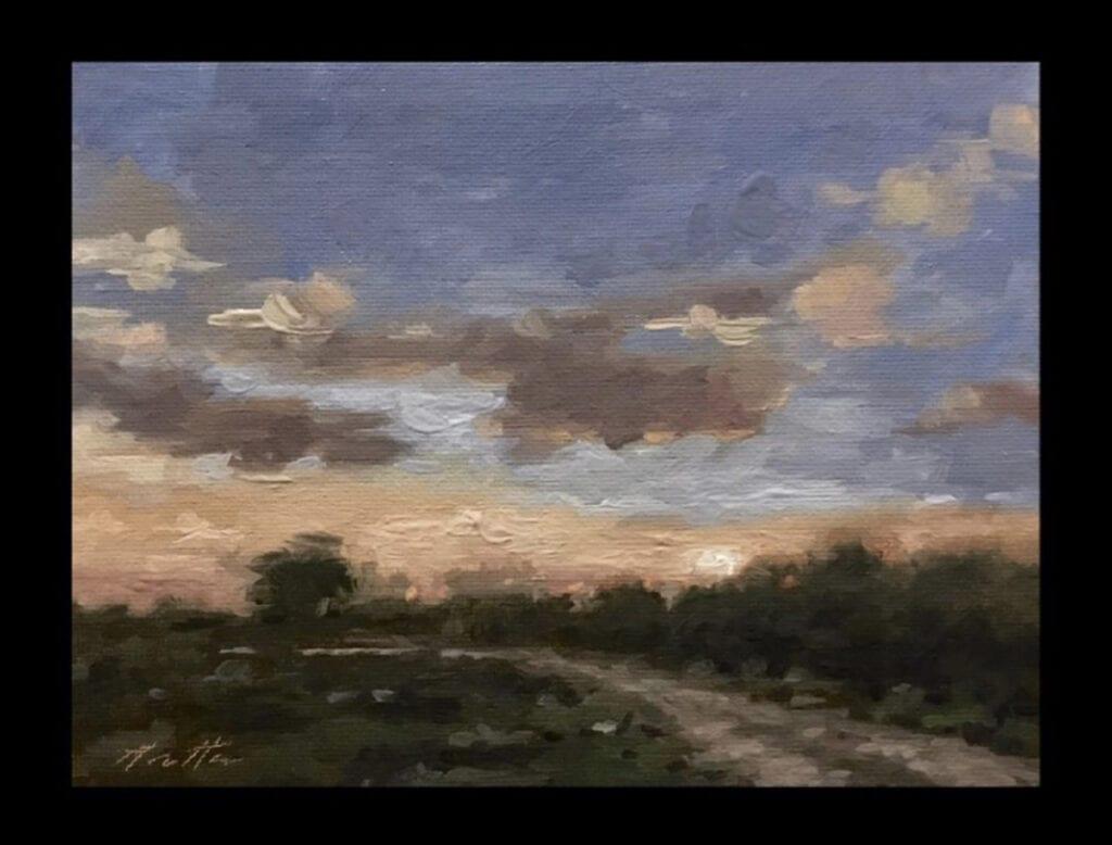 """Evening Path"" Oil on Canvas 6 x 8 by Robert Armetta"