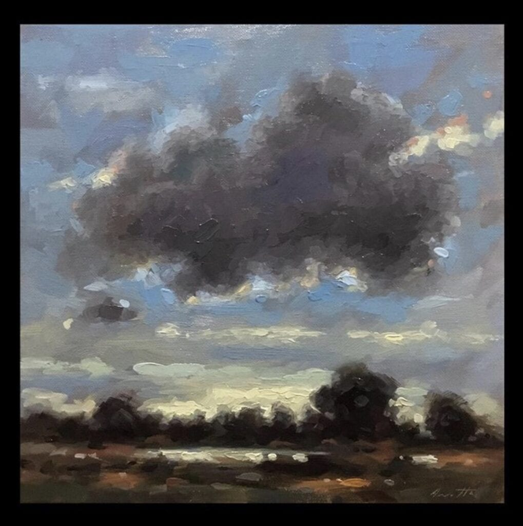 """Large Cloud"" Oil on Canvas 12 x 12 by Robert Armetta"