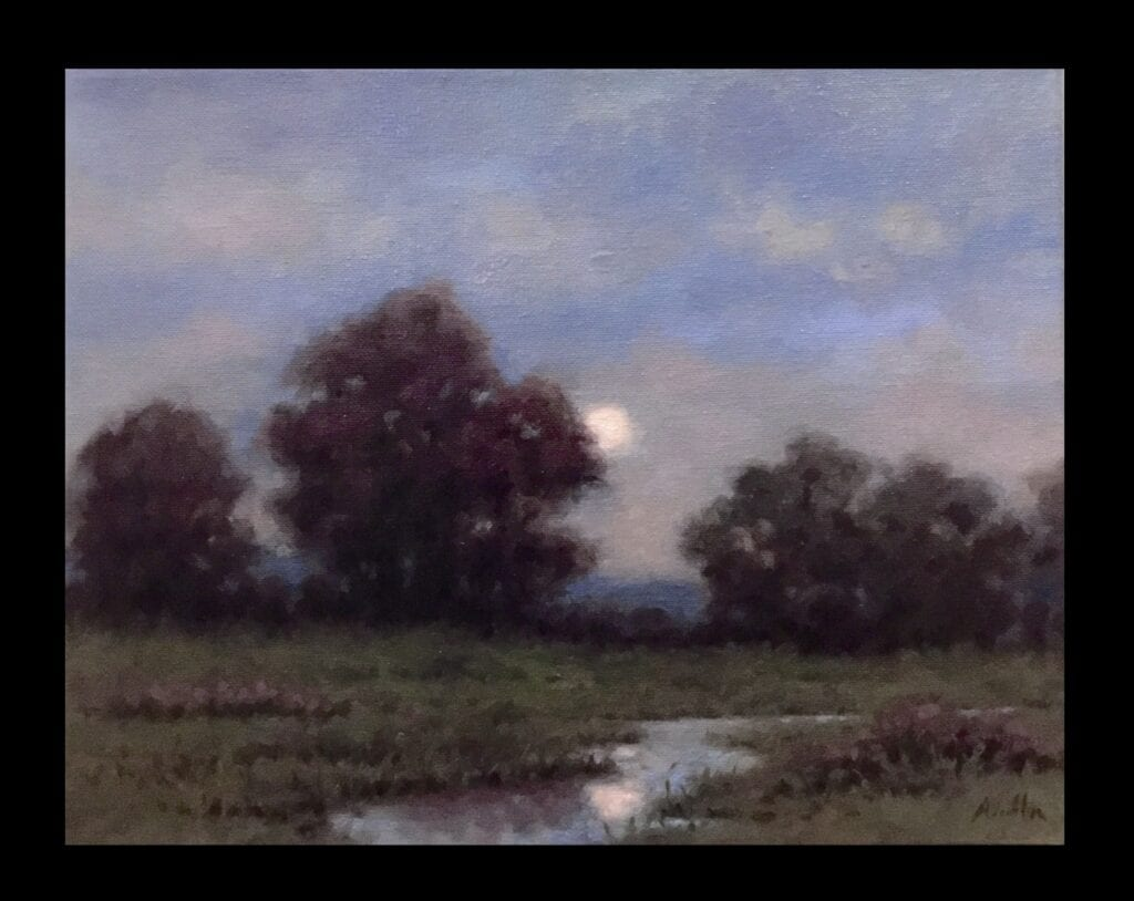 """""""Nocturne"""" Oil on Canvas 11 x 14 by Robert Armetta"""