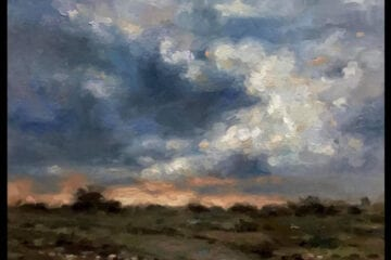 """Shifting Sky"" Oil on Canvas 11 x 14 by Robert Armetta"
