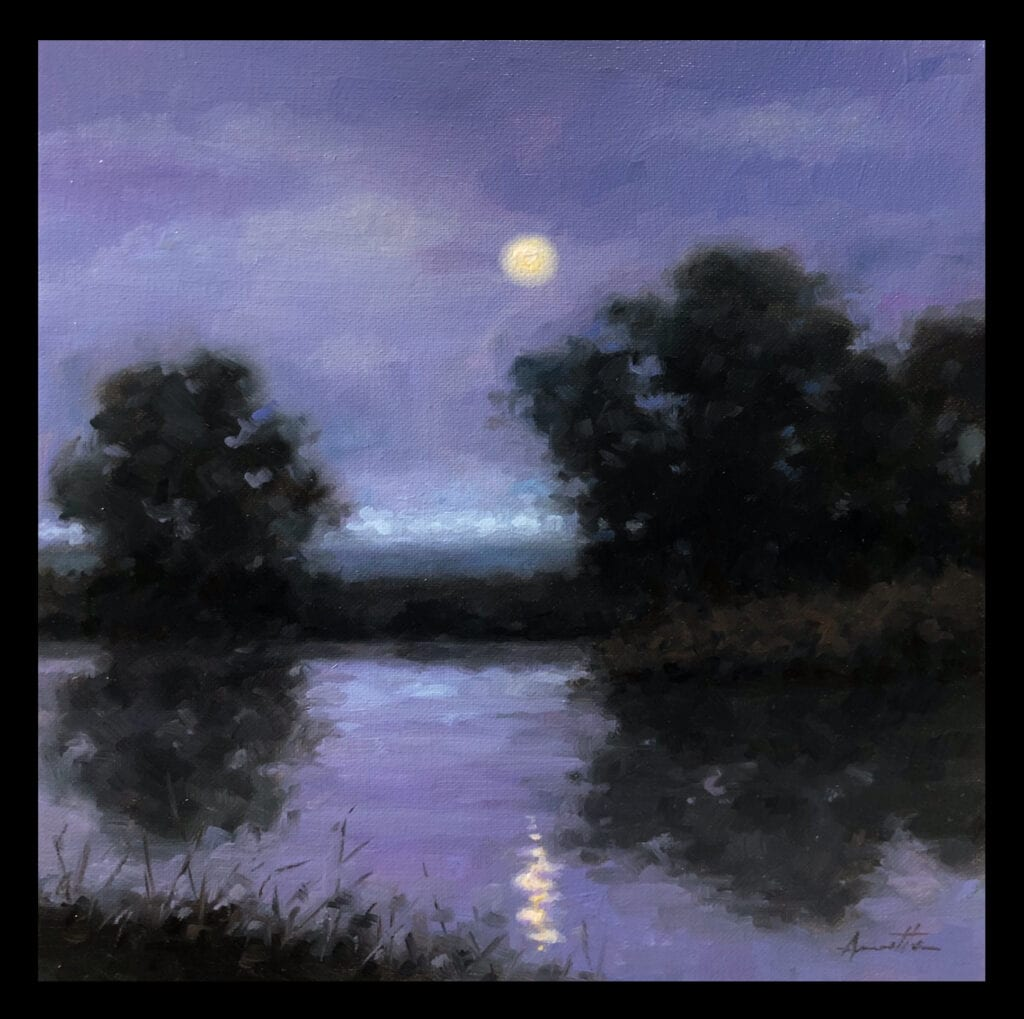 """Sonata"" Oil on Canvas 12 x 12 by Robert Armetta"